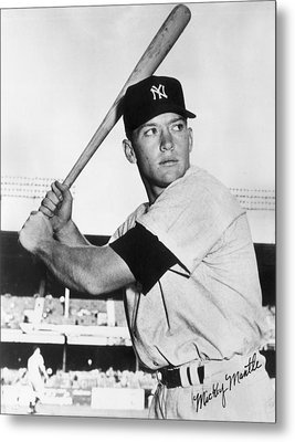Mickey Mantle At-bat Metal Print by Gianfranco Weiss