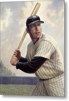 Mickey Mantle Metal Print by Gregory Perillo