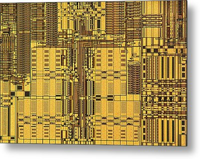 Microprocessor Instruction Decode Unit Metal Print by Antonio Romero