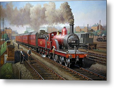 Midland Railway Single 1896. Metal Print by Mike  Jeffries