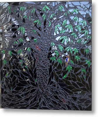 Midnight Banyan Metal Print by Alison Edwards