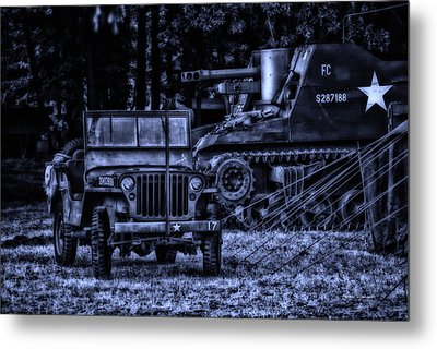 Midnight Battle And All Is Quite On The Front Lines Metal Print by Thomas Woolworth