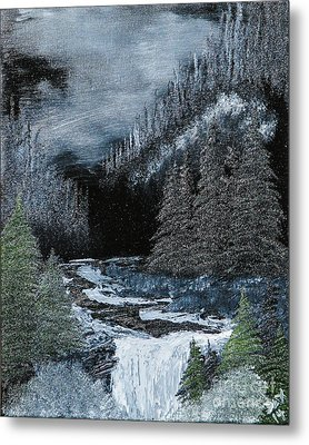 Midnight Falls Metal Print by Dave Atkins