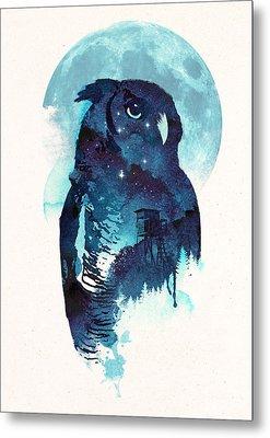 Midnight Owl Metal Print by Robert Farkas