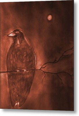 Midnight Solitude Metal Print by Noreen  Withrow Roux