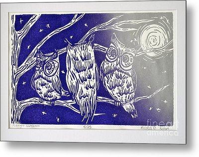 Midnight Watchmen Metal Print by Kimberly Wix