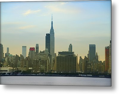 Midtown Manhattan Cityscape Metal Print by Bill Cannon