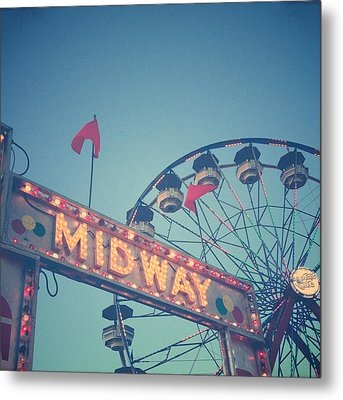 Midway Metal Print by Joy StClaire