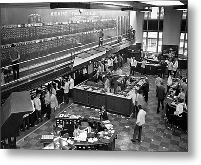 Midwest Stock Exchange Metal Print by Underwood Archives