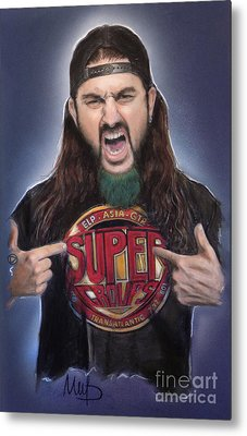Mike Portnoy Metal Print by Melanie D