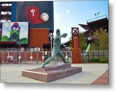 Steve Carlton Statue - Phillies Citizens Bank Park Metal Print by Bill Cannon