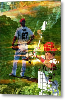 Mike Trout Metal Print by Robert Ball
