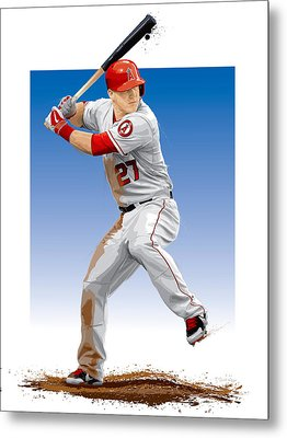 Mike Trout Metal Print by Scott Weigner