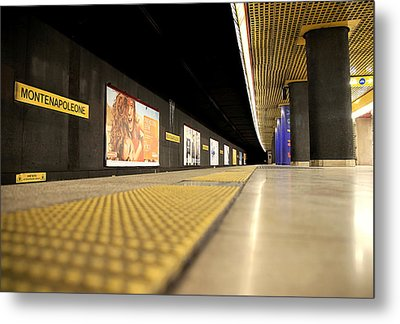 Milan Subway Station Metal Print by Valentino Visentini