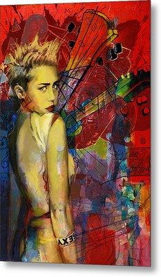 Miley Cyrus Metal Print by Corporate Art Task Force