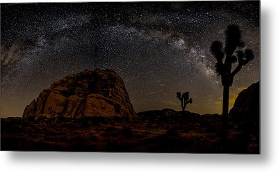 Milky Way Over Joshua Tree Metal Print by Peter Tellone