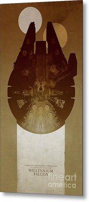 Millennium Falcon Metal Print by Baltzgar