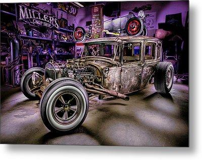 Millers Chop Shop 1929 Ford Murray Metal Print by Yo Pedro