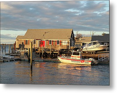 Millway Marina, Barnstable Harbor, Cape Metal Print by Susan Pease