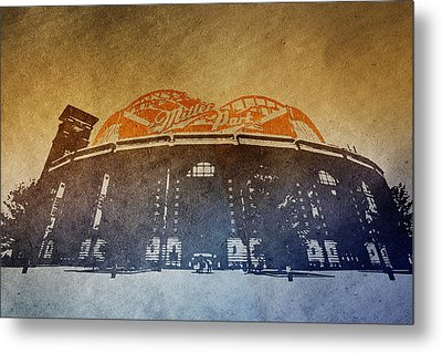 Milwaukee Brewers Miller Park  4  Art  9291 Metal Print by David Haskett