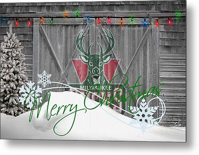 Milwaukee Bucks Metal Print by Joe Hamilton
