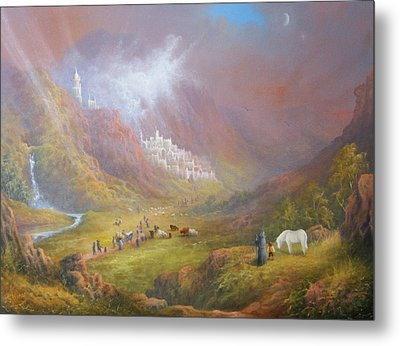 Minas Tirith  War Approaches. Metal Print by Joe  Gilronan