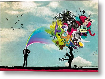 Mind Outburst Metal Print by Gianfranco Weiss