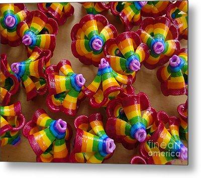 mini Flying Rainbow Lasagnes Metal Print by Nofirstname Aurora