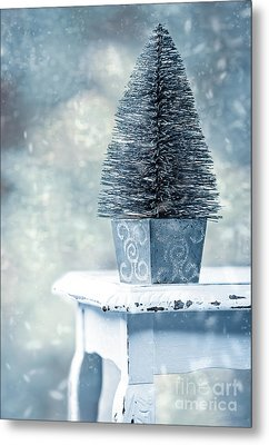 Miniature Christmas Tree Metal Print by Amanda And Christopher Elwell