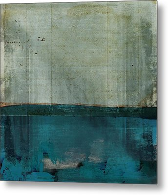 Minima - S02b Turquoise Metal Print by Variance Collections
