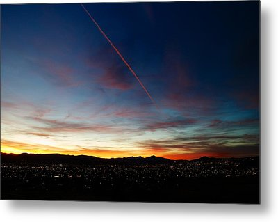 Mining City Sunset Metal Print by Kevin Bone