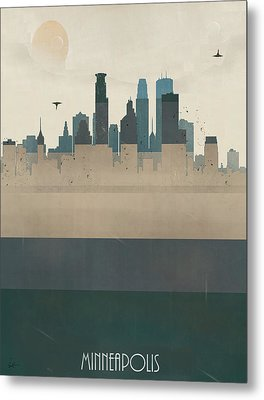 Minneapolis Minnesota Skyline Metal Print by Bri B
