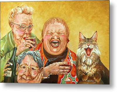 Miriam's Tea Party Metal Print by Shelly Wilkerson