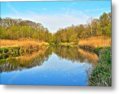 Mirror Canal Metal Print by Frozen in Time Fine Art Photography