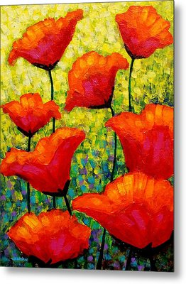 Mischa's Poppies Metal Print by John  Nolan