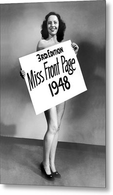 Miss Front Page Of 1948. Metal Print by Underwood Archives