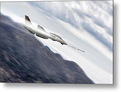 Missile Lock F-14 Metal Print by Peter Chilelli