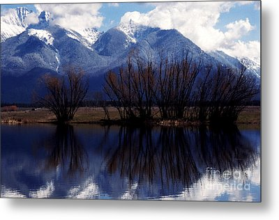 Mission Mountains Mission Valley Metal Print by Thomas R Fletcher