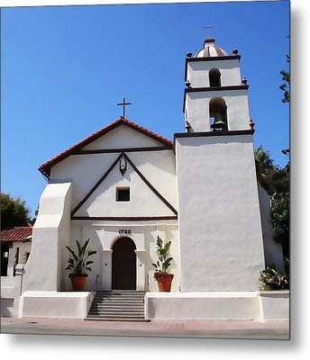 Mission Ventura Metal Print by Art Block Collections