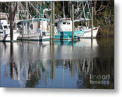 Mississippi Boats Metal Print by Carol Groenen