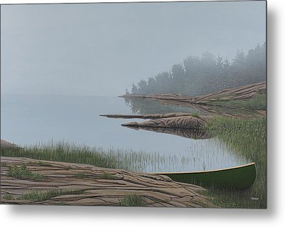 Mistified Metal Print by Kenneth M  Kirsch