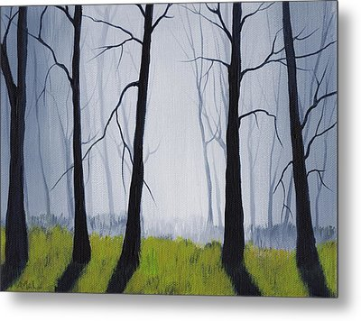 Misty Forest Metal Print by Anastasiya Malakhova