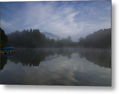 Misty Morning Metal Print by Aaron S Bedell