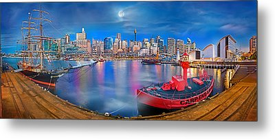 Misty Morning Harbour Metal Print by Az Jackson
