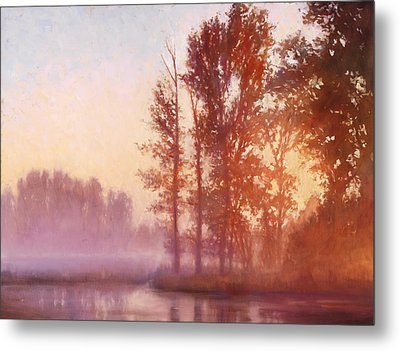 Misty Morning Memory Metal Print by Michael Orwick