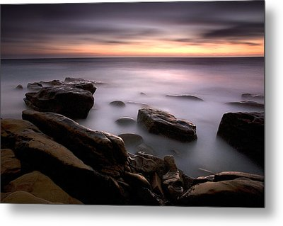 Misty Water Metal Print by Peter Tellone