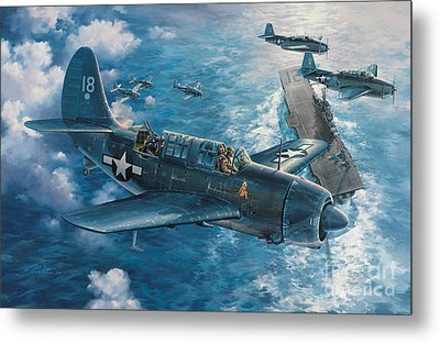 Mitscher's Hunt For The Rising Sun Metal Print by Randy Green