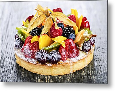 Mixed Tropical Fruit Tart Metal Print by Elena Elisseeva
