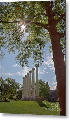 Mizzou Columns Sunflare Metal Print by Kay Pickens