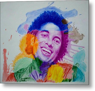 Mj Color Splatter Metal Print by Sruthi Murali